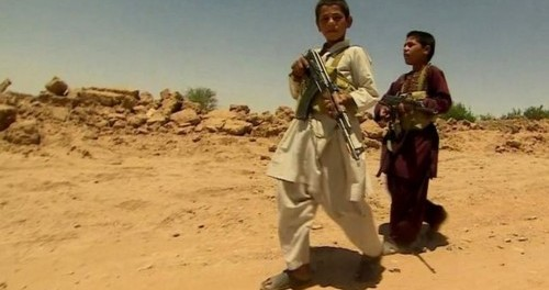 Afghan child soldiers fighting the Taliban