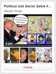Political and Social Satire Cartoons. Collection of funny, satire cartoons I see in the news and post daily. poking fun at current events and people in the news.