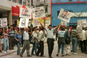 May 29/98C protest in front of Liberal office on St. Mary St. in Toronto about refugees being sent back to Iran.Photo by Edward Regan/Globe and Mail