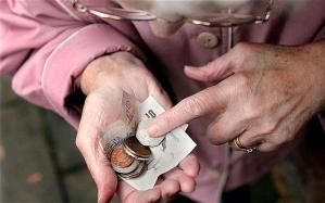 Elderly-lady counting money