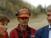 fireman in focus harper bc wildfire
