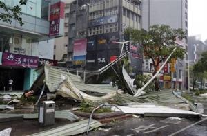 Typhoon Soudelor in Taipei, Taiwan.