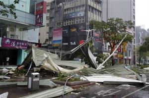 Typhoon Soudelor in Taipei, Taiwan.
