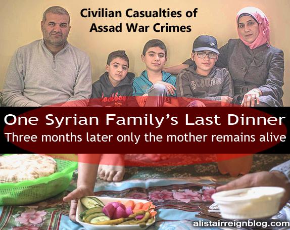 Syrian family last dinner