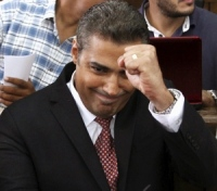 Egypt: Mohamed Fahmy at his trial in September 2014