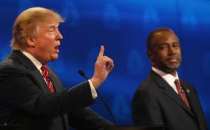 Donald Trump and Ben Carson at the GOP Debate, October 28, 2015.
