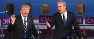 Donald Trump and Jeb Bush at the GOP Debate, October 28, 2015.
