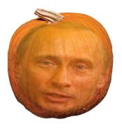 Putin Pumpkin Head