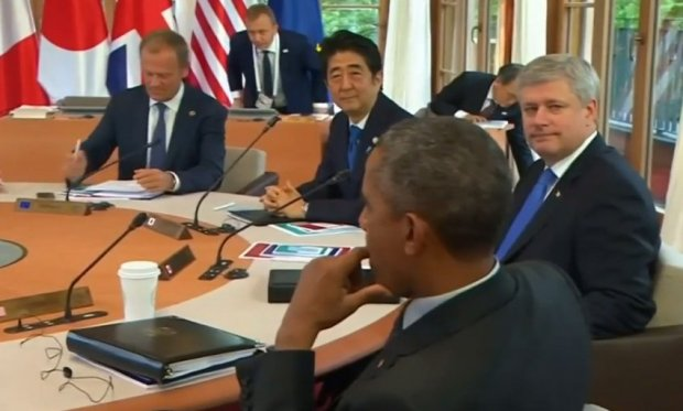 Prime Minister Harper at the G7 Summit