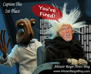 Donald Trump's day at the space salon