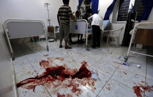 File image of a hospital room in Yemen. Photo EPA-Yahya Arhab DUBAI - A Yemeni hospital run by medical aid group Medecins Sans Frontieres (MSF) was bombed in a Saudi-led air strike, wrecking the facility and wounding several people, the hospital director said on Tuesday.