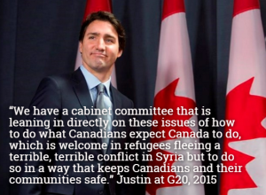 justin to bring refugees as planed
