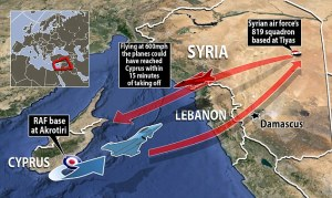 Graphic of jet routes. Photo: Daily Mail. Click on image to enlarge.