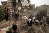 People searched for survivors in the rubble of houses destroyed by an airstrike in Sana, Yemen, on June 12. (Photo: Mohamed Al-Sayaghi/Reuters) alistairreignblog.com