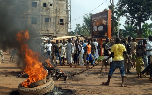 Crowds in Bangui, Central African Republic, on Sunday, after the assassination of a magistrate the day before. Pacome Pabandji-AFP-Getty Images