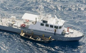 The three men, three woman and three young children were put ashore from a Japan Coat Guard patrol vessel late on Tuesday evening and later transferred to an immigration facility in Nagasaki Prefecture.