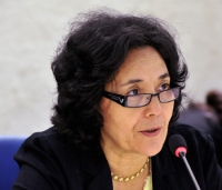 Leila Zerrougui, Special Representative of Children and Armed Conflict addresses during the 21th Session of the Human Rights Council, Room XX, Palais des Nations. Tuesday 11 September 2012. Photo by Violaine Martin