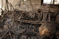 A hospital bed inside the MSF hospital in Kunduz after it was destroyed by a US airstrike (Photo: ANDREW QUILTY).