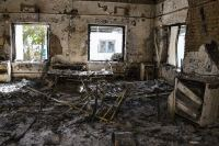 A patient ward inside the MSF hospital in Kunduz after it was destroyed by a US airstrike (Photo: Andrew Quilty).