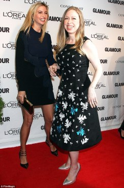 The Clinton and Trump daughters are reportedly close friends. Here they are attending the 2014 Glamour Women of the Year Awards.  (Photo: The Daily Sheeple). alistairreignblog.com