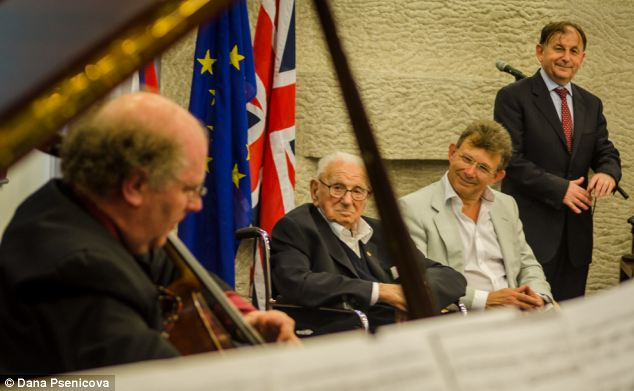 The ceremony held at the Czech Embassy for Sir Nicholas Winton (Credit: Daily Mail UK). - (Alistair Reign News Blog: www.AlistairReignBlog.com).
