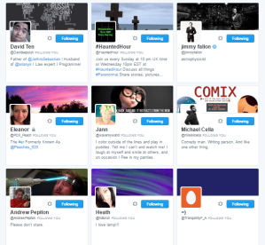 People followed by ⛽ ️Hashtag Sally ♫ hashtag_sally Twitter.png17