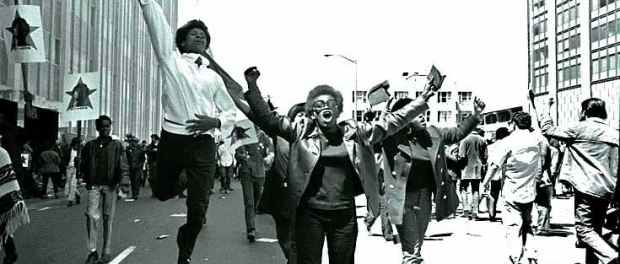 American socialist organisation, the BPP, which at its height reached around 5,000 members, before disintegrating due to a campaign of state terror and internal problems.. Free Huey Newton, Black Panther Rally San Francisco, May 1, 1969.