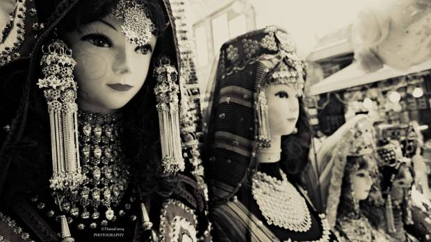 It often stops me stores that still provide traditional clothing, only to realize how beautiful things were back then. (Photo/ quote: Thana Faroq).