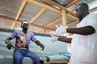 MSF is providing healthcare and running mobile clinics in five camps around Bangui.