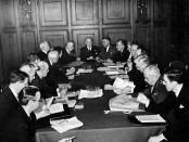 The Canadian Delegation to the United Nations Conference on International Organization, San Francisco, May 1945. (Photo: Public Domain). (Alistair Reign News Blog www.AlistairReignBlog.com).