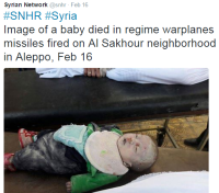 Syrian Network snhr child died