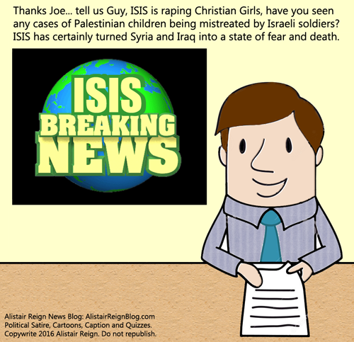 Comic Strip: Terror News with Chuck. (Alistair Reign News Blog - Comic Strips: www.AlistairReignBlog.com).