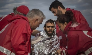 Since 2014 alone, Migrant Offshore Aid Station has pulled 12,000 refugees to safety from rickety boats in the Mediterranean Sea. But thousands have drowned on migrant routes.