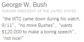 Top 20 Places and Things Donald Trump Has Insulted george W. bush