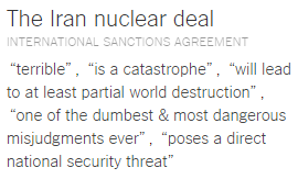 Top 20 Places and Things Donald Trump Has Insulted iran nuke deal