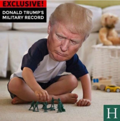 Appeared in Huffington Post. trumps military record
