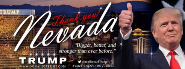 Trumps twitter banner no numbers