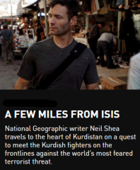 Journalist Neil Shea travels to the heart of Kurdistan to meet the men and women fighting the DAESH.