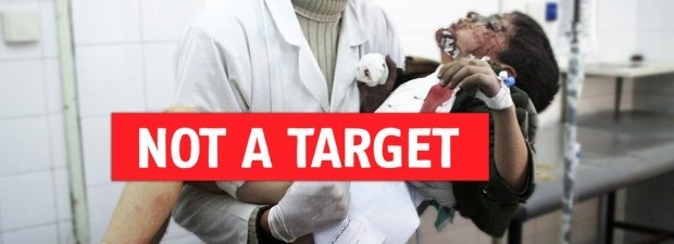 Doctors Without Borders - Not A Target: These horrific attacks contravene humanitarian law and have a catastrophic impact on people already made vulnerable by war and violence. When hospitals are bombed, civilians are often severely maimed or killed, and those who survive lose access to the medical help they desperately need