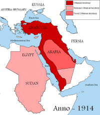 The Ottoman Empire, 1914.