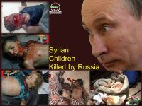 Syrian Children Killed By Russian-led Airstrikes Targeting Civilians.