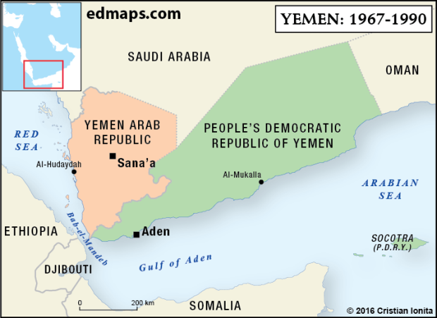Geopolitics: The Yemeni Crisis In Five Map.. (1967-1990). On 30 November 1967, the Federation of South Arabia, along with Protectorate of South Arabia, gained its independence as the People's Republic of South Yemen.