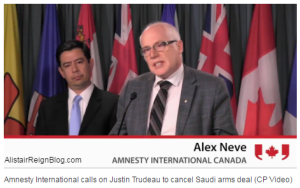 Human rights groups ask Trudeau to end 'immoral' arms deal with Saudi Arabia Alex Neve