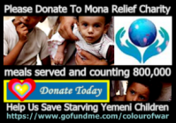 Please donate generously to Mona Relief Charity's Go Fund Me page. One hundred percent (100%) of your donations go directly to the Your Ability and Mona Relief Organization's bank accounts; in turn, all the funds they receive are used to purchase essential supplies for orphanages, hospitals and poverty-stricken families. There are no middleman fees taken out of your donation, except for the small percentage the Go Fund Me company shaves off for their fee, and best of all, your money reaches the children very quickly.