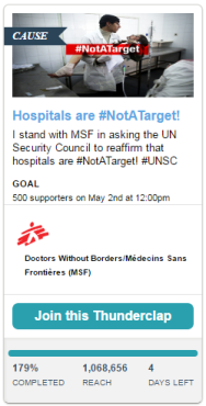 -NotATarget Doctors Without Borders Canada Médecins Sans Frontières MSF Canada