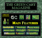 The Green Cart Magazine Cover Page. 1994. (Photo: Alistair Reign News Blog: www.AlistairReignBlog.com).