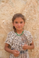Yezidi girl in Khanki camp for displaced people, south of Dohuk, Iraqi Kurdistan.  (Photo:  Amy McTighe).