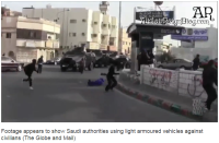 The Saudi citizens seen targeted in video live in the hotbed of Shia opposition guns shooting