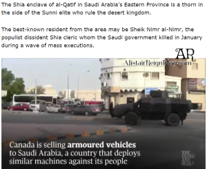The Saudi citizens seen targeted in video live in the hotbed of Shia opposition