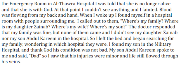 This is the story of how one family's life was destroyed by an airstrike in the night. He is not a soldier. His family members are not political activists. Nor was his home hiding fighters from either side.